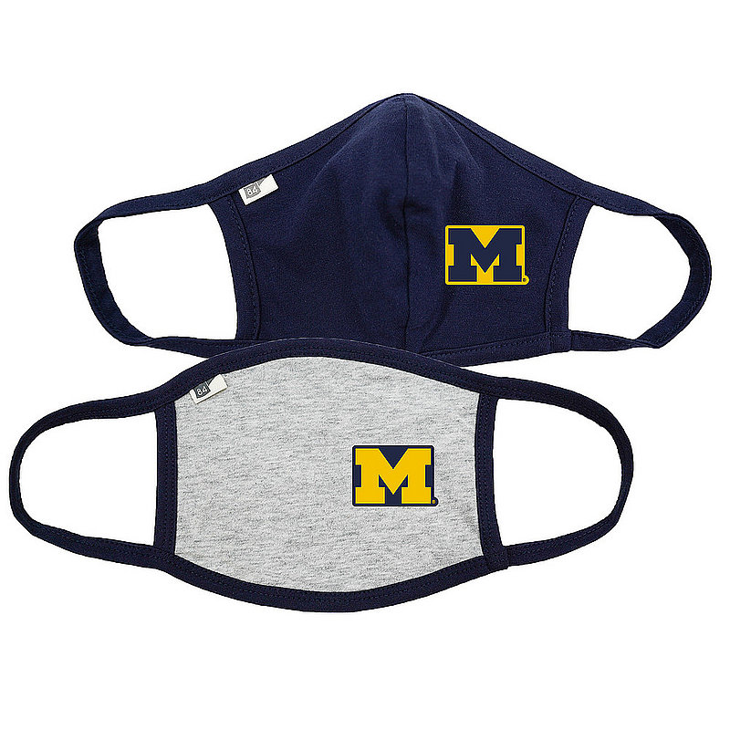 Blue 84 Michigan Wolverines Face Covering 2 Pack 00000000BC44R 00000000BC446 (Blue 84)