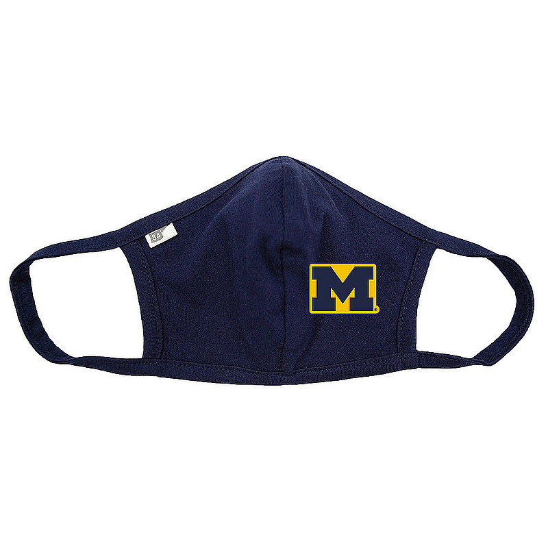 Blue 84 Michigan Wolverines Face Covering Navy BRX3R_MASKP_NAVY (Blue 84)