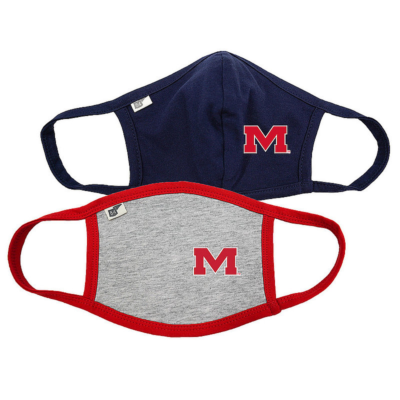 Blue 84 Mississippi Ole Miss Rebels Face Covering 2 Pack 00000000BCPXZ 00000000BCP6J (Blue 84)