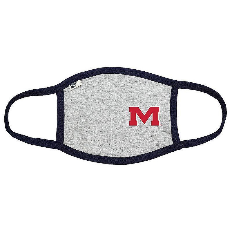 Blue 84 Mississippi Ole Miss Rebels Face Covering Gray 00000000BCP6J (Blue 84)