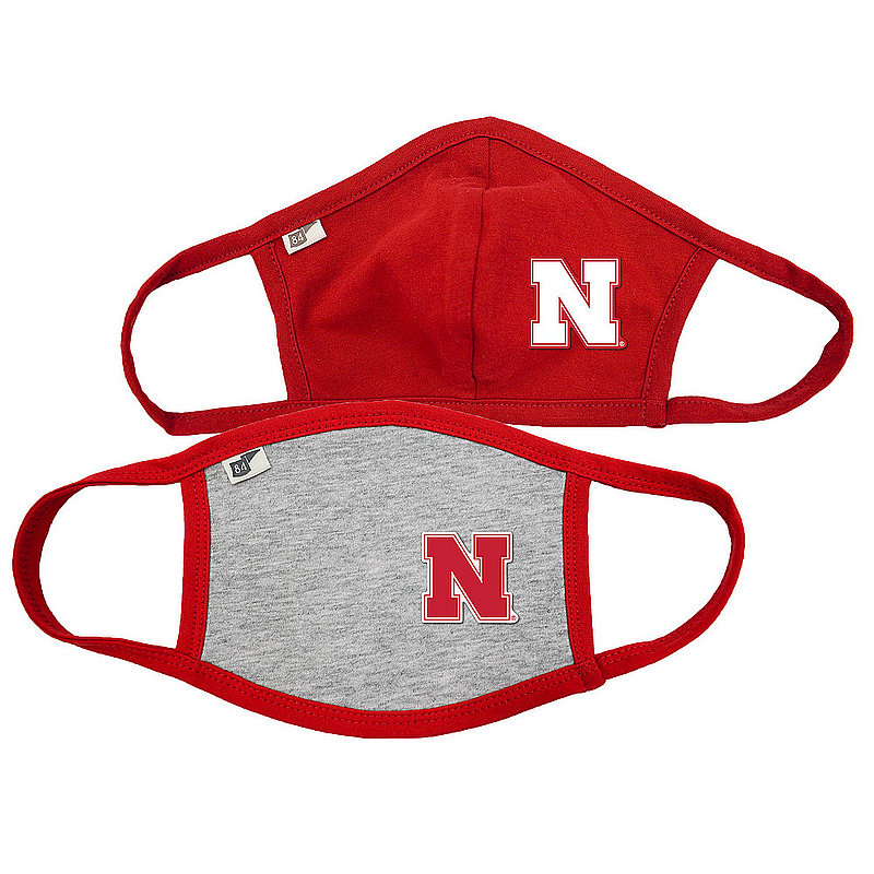Blue 84 Nebraska Cornhuskers Face Covering 2 Pack 00000000BC4D8 00000000BC4D9 (Blue 84)