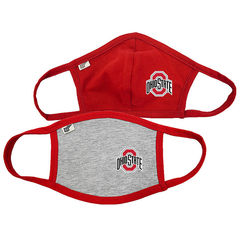Ohio State Buckeyes Face Covering 2 Pack