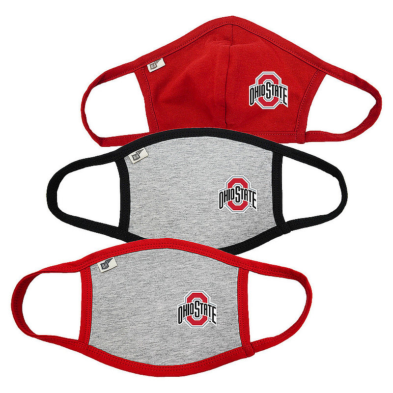 Blue 84 Ohio State Buckeyes Face Covering 3 Pack 00000000BC3CB 00000000BC34G 00000000BC34G (Blue 84)