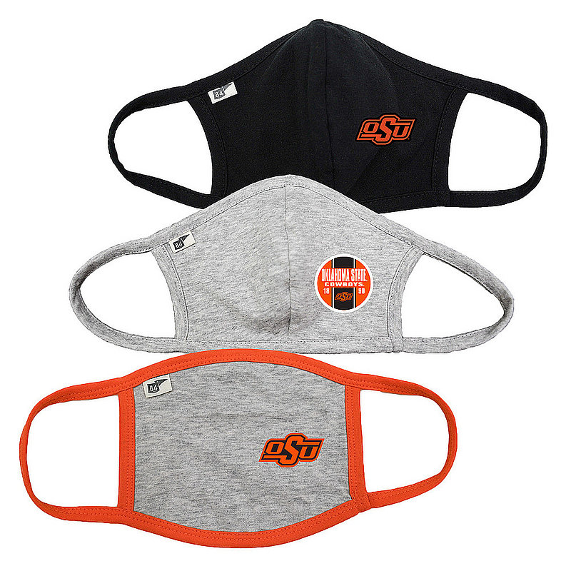 Blue 84 Oklahoma State Cowboys Face Covering 3 Pack 00000000BCPZJ 00000000BCP79 00000000BCPGT (Blue 84)