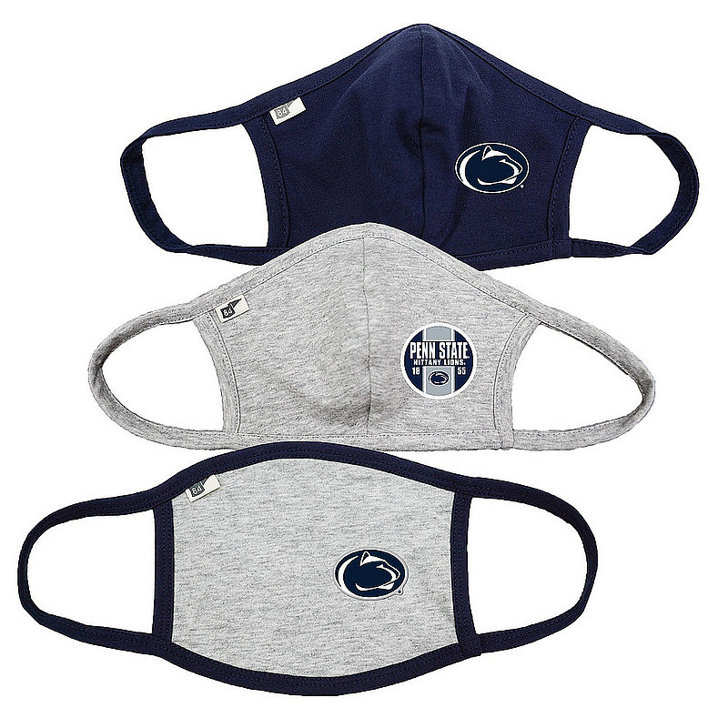 Blue 84 Penn State Nittany Lions Face Covering 3 Pack 00000000BC44Z 00000000BC3TH 00000000BC4CB (Blue 84)