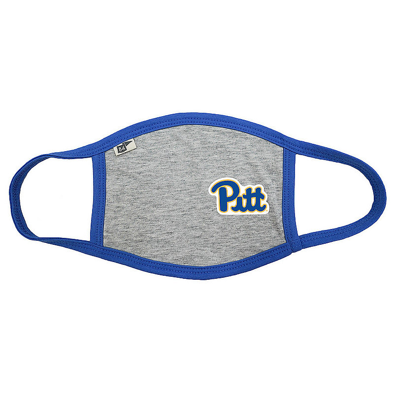 Blue 84 Pitt Panthers Face Covering Gray BRXKR_MASKH_HEAROY (Blue 84)
