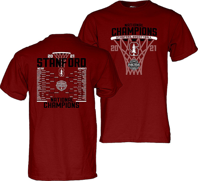 Blue 84 Stanford Cardinal Womens National Basketball Championship T-Shirt 2021 Bracket 00000000BX4N4 (Blue 84)