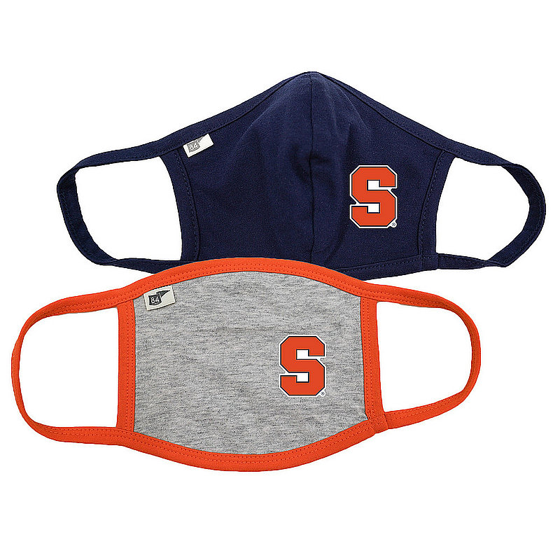 Blue 84 Syracuse Orange Face Covering 2 Pack 00000000BCPXG� 00000000BCP6C (Blue 84)