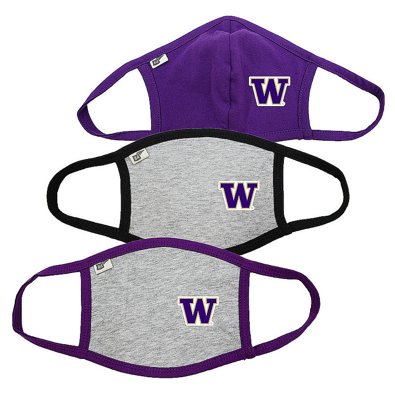 Blue 84 Washington Huskies Face Covering 3 Pack 00000000BC4KJ 00000000BC4KX 00000000BC4KX (Blue 84)