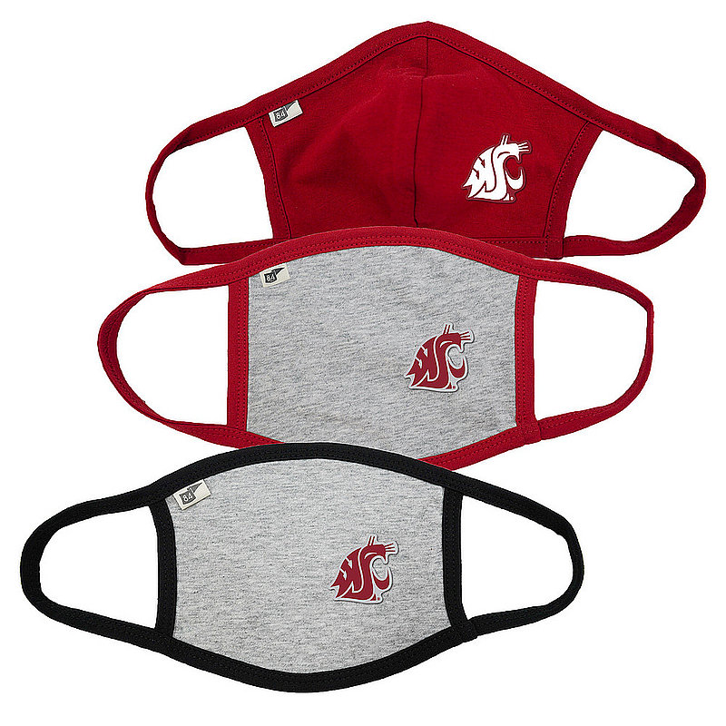 Blue 84 Washington State Cougars Face Covering 3 Pack Gray 00000000BC4K7 00000000BC4KN 00000000BC4KN (Blue 84)