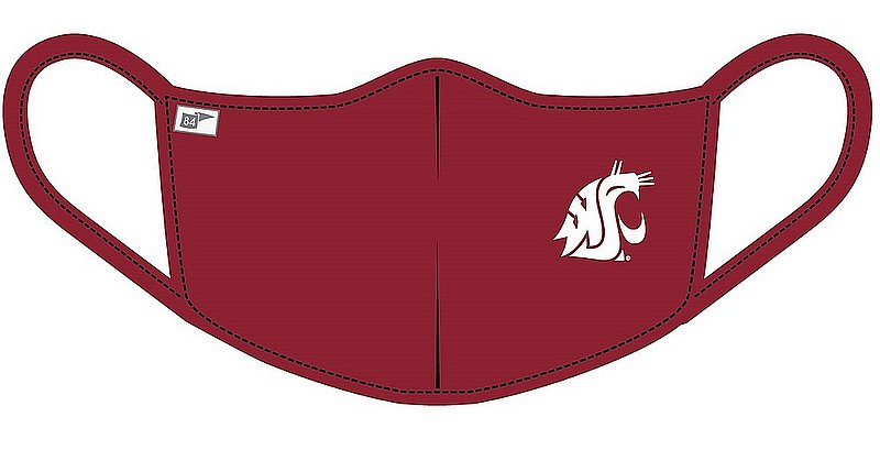 Blue 84 Washington State Cougars Face Covering Crimson B4NF5_MASKP_CARDI (Blue 84)