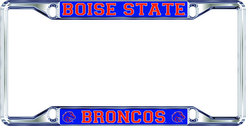 Boise State Broncos License Plate Frame Silver 46596