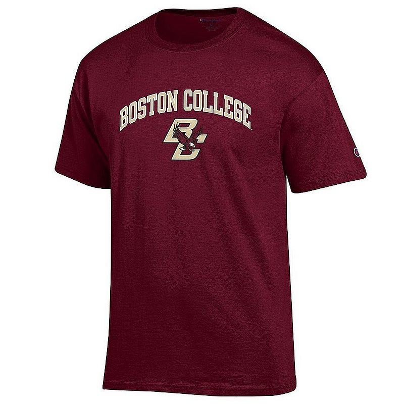 Boston College Eagles Tshirt Varsity Maroon Arch Over APC02960951*
