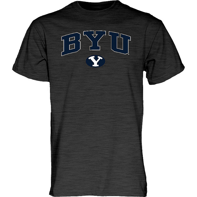 BYU Cougars TShirt Varsity Charcoal Arch Over APC02960954*