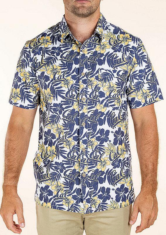 California Golden Bears Hawaiian Shirt Floral MPL-SRWQ319-LS1725