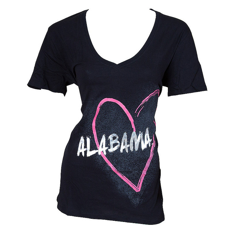 Campus Couture Alabama Crimson Tide Ladies TShirt Black Zoey (Campus Couture)