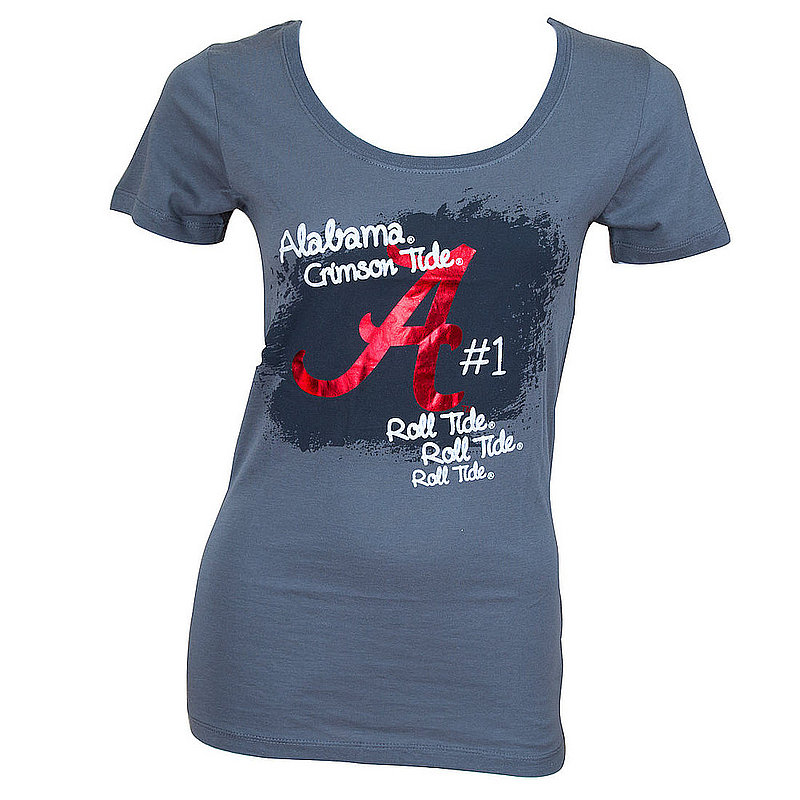 Campus Couture Alabama Crimson Tide Womens Tshirt Lydia Charcoal (Campus Couture)