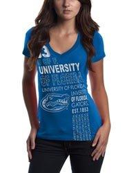 Campus Couture Florida Gators Womens VNeck Tshirt Annie (Campus Couture )