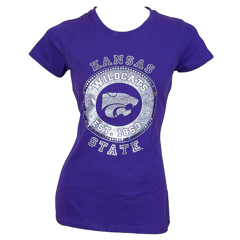 Campus Couture Kansas State Womens Juniors Tee Shirt Kimberly (Campus Couture)