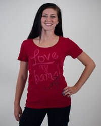 Campus Couture Love My Bama Womens Tshirt Crimson Ayden (Campus Couture)