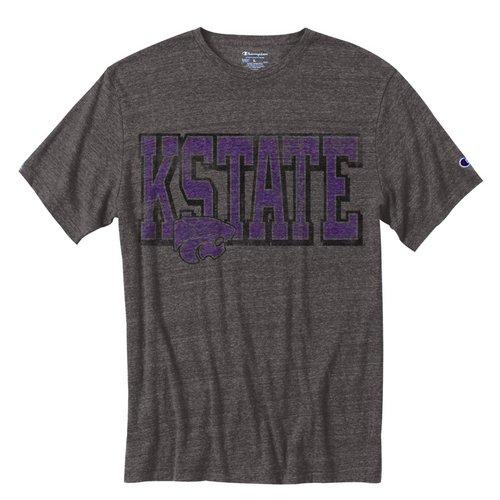Champion K State Wildcats Tri Blend Mens Tshirt Soft (Champion)