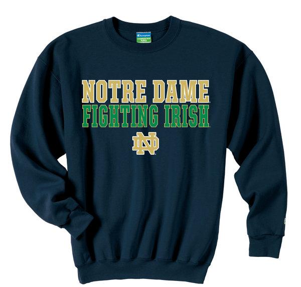 Champion Notre Dame Fighting Irish Sweatshirt Fight Navy APC02019609 (Champion)