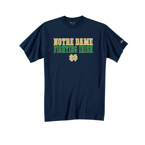 Champion Notre Dame Fighting Irish Tshirt Fight Navy ND-7 (Champion)