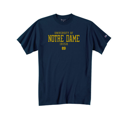 Champion University Of Notre Dame T Shirt Navy APC01170855 (Champion)