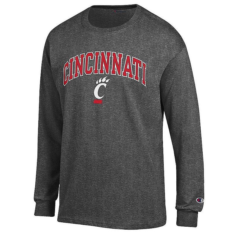 Cincinnati Bearcats Long Sleeve TShirt Varsity Charcoal APC03018161