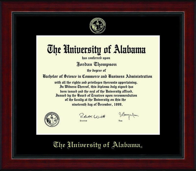 Classic Frames DSCH University Of Alabama Diploma Frame Academy UalaEd1-AcadBk (Classic Frames DSCH)