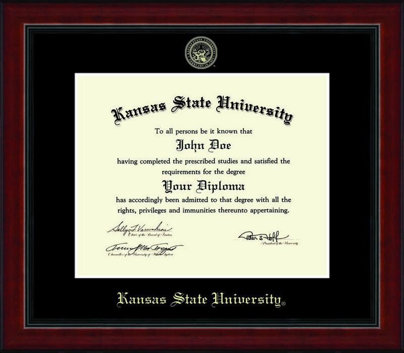 Classic Frames Kansas State University Diploma Frame Academy DSCH-KasuEd1-AcadBk Item # 234813 (Classic Frames)