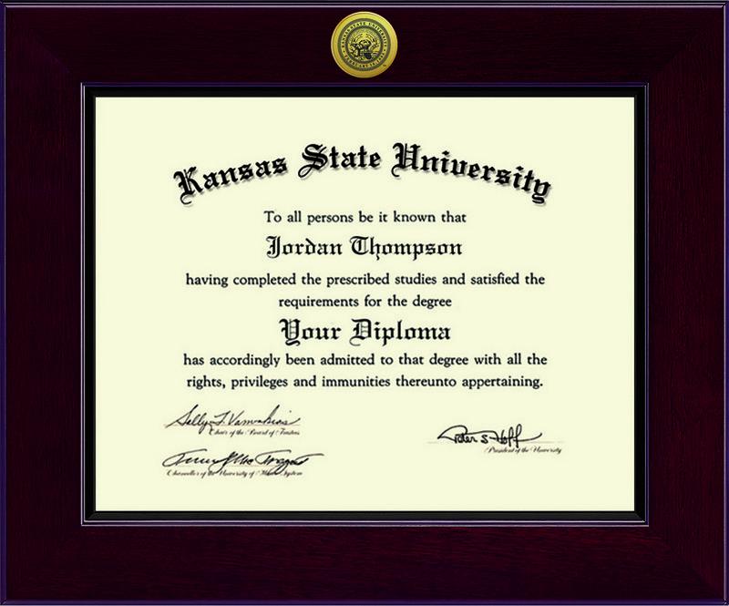 Classic Frames Kansas State University Diploma Frame Cordova DSCH-KasuZx1-DNo (Classic Frames)