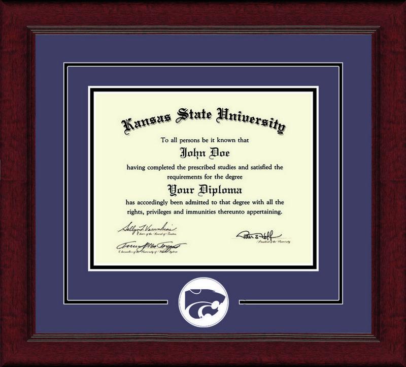 Classic Frames Kansas State University Diploma Frame Lasting Memories DSCH-KasuLmC-^PuBk (Classic Frames)