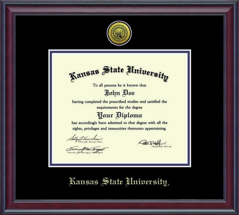 Classic Frames Kansas State University Diploma Frame Spirit DSCH-KasuZd1-2BkPu Item # 235851 (Classic Frames)