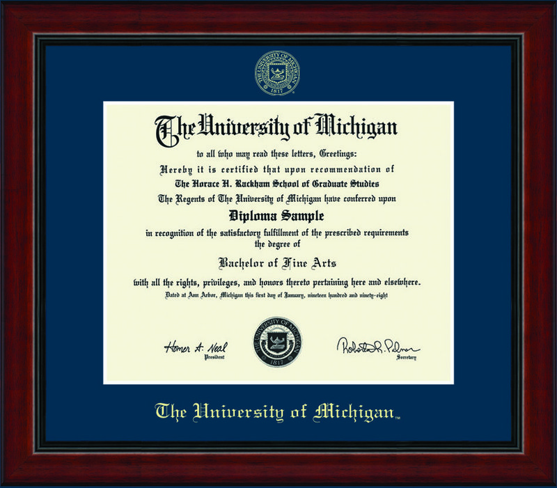 Classic Frames Michigan Wolverines Diploma Frame DSCH-UmicEd1-AcadNv (Classic Frames)