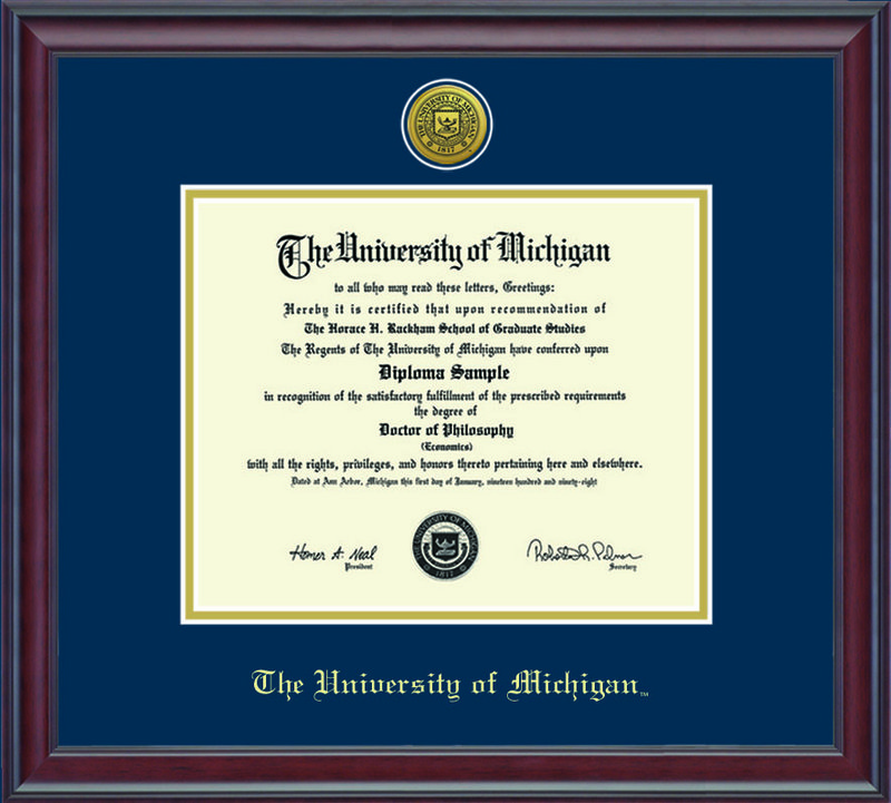 Classic Frames Michigan Wolverines Diploma Frame Spirit DSCH-UmicZd1-2NvGo (Classic Frames)