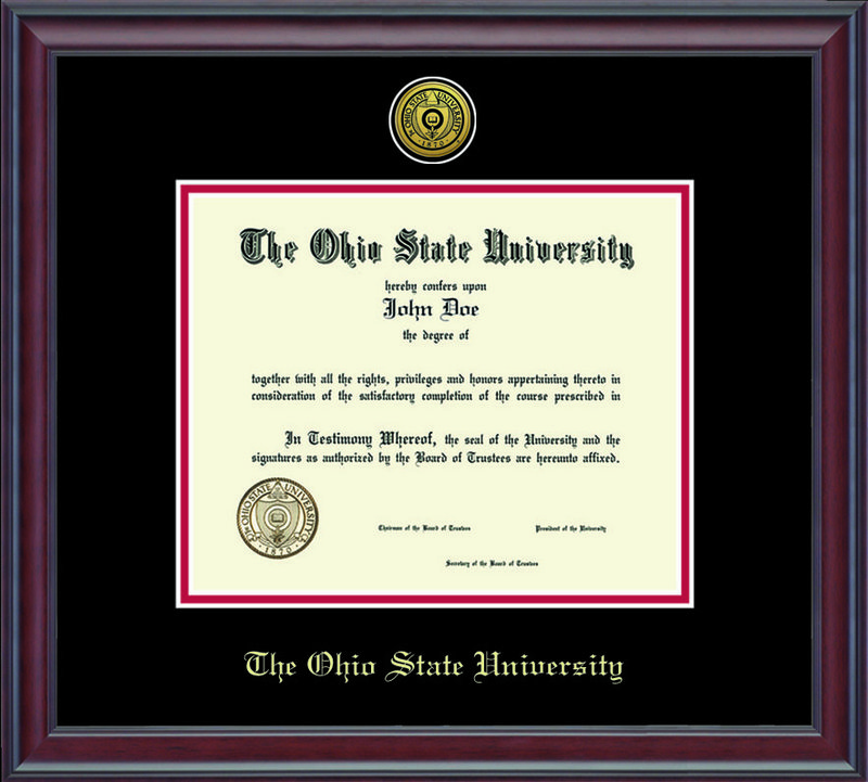 Classic Frames Ohio State Buckeyes Diploma Frame DSCH-OhsuZd1-2BkRd (Classic Frames)