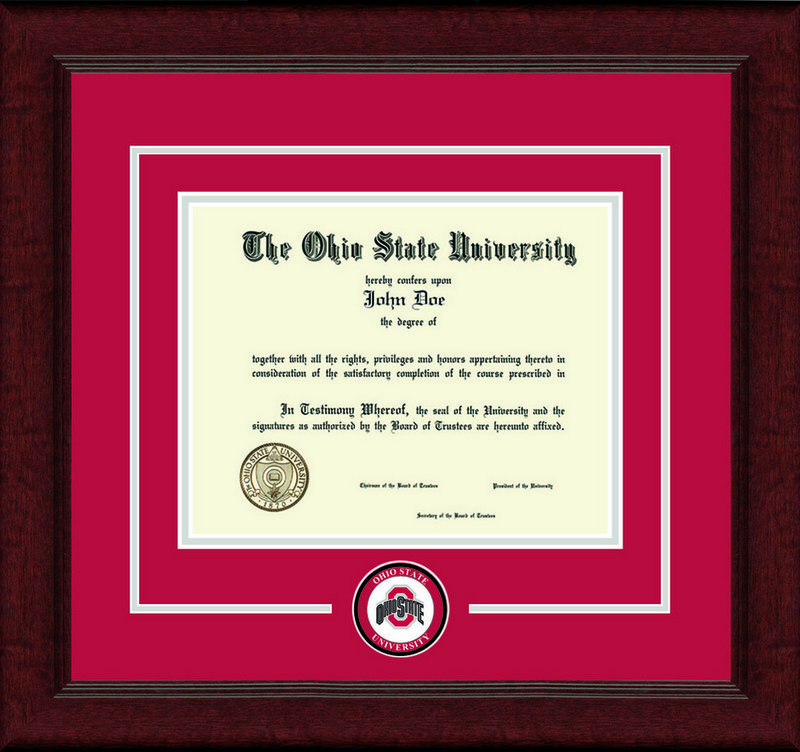Classic Frames Ohio State Buckeyes Diploma Frame Lasting Memories DSCH-OhsuLmC-^RdSi (Classic Frames)