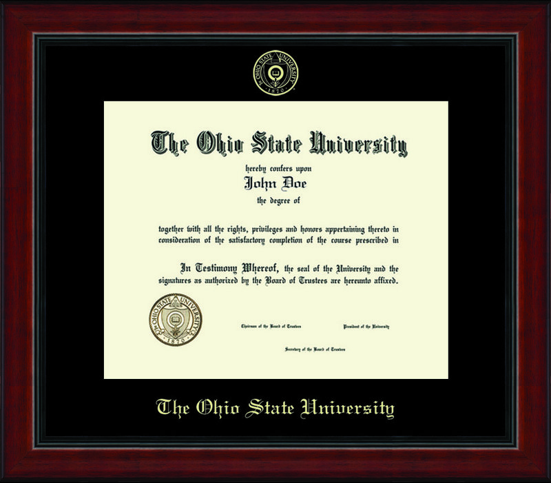 Classic Frames Ohio State University Diploma Frame Academy DSCH-OhsuEd1-AcadBk220310 (Classic Frames)