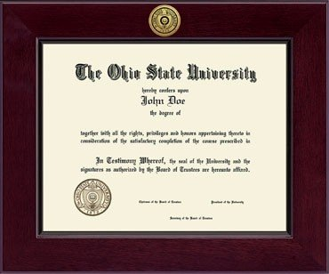 Classic Frames The Ohio State University Diploma Frame 222521 OSU Century Engraved Gold Cordova, (Classic Frames)
