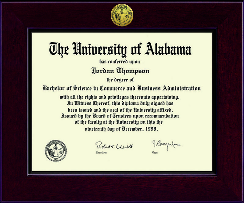 Classic Frames University Of Alabama Diploma Frame Cordova DSCH-UalaZx1-DNo (Classic Frames)