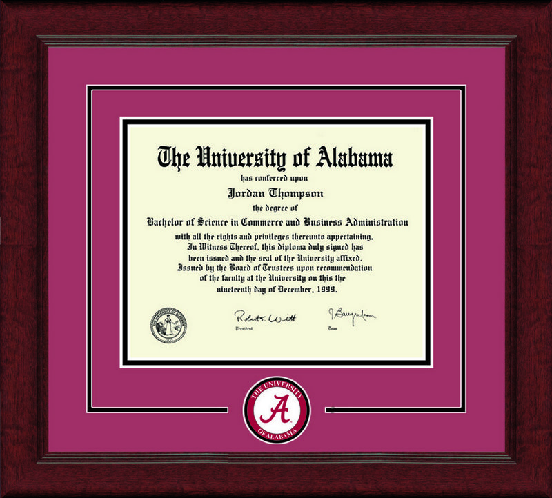 Classic Frames University Of Alabama Diploma Frame Lasting Memories DSCH-UalaLmC-^CrBk (Classic Frames)