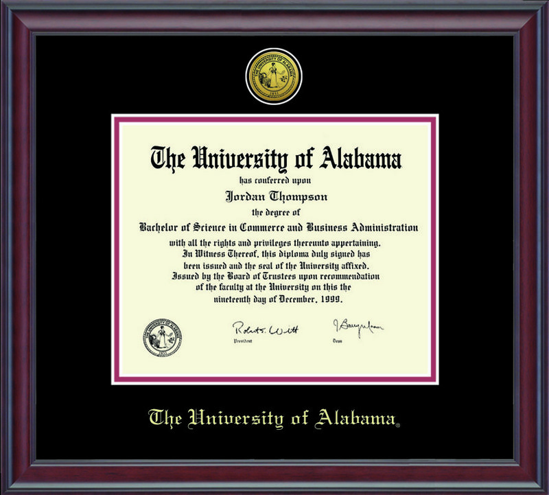 Classic Frames University of Alabama Tuscaloosa Diploma Frame Spirit DSCH-UalaZd1-2BkCr Item Number 235370 (Classic Frames)