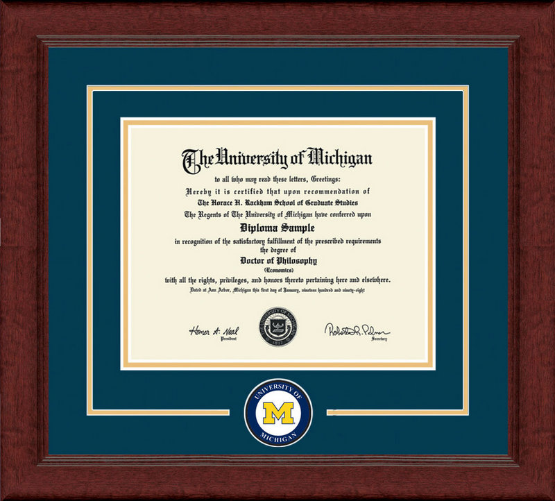 Classic Frames University Of Michigan Diploma Frame Lasting Memories DSCH-UmicLmC-^NvYw Item # 235495 (Classic Frames)