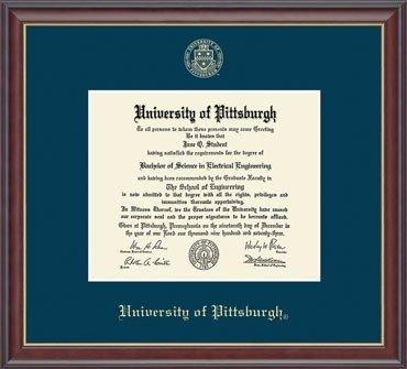 University Of Pittsburgh Diploma Frame Embossed Studio