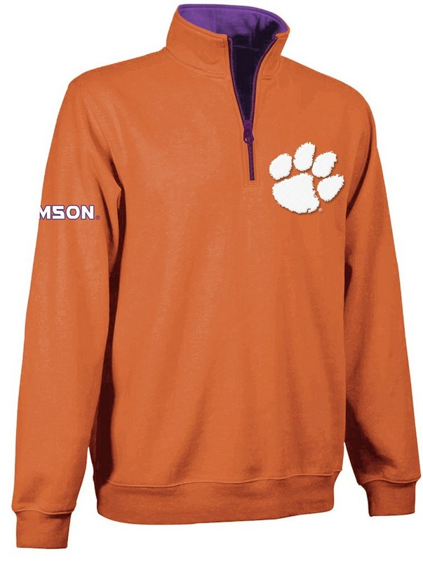 Clemson Tigers 1/4 Zip Sweatshirt Orange CLM9A451