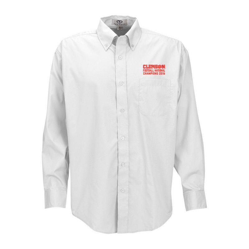 Clemson Tigers 2016 National Champions Button Up Shirt White (2017 championship) E00110857