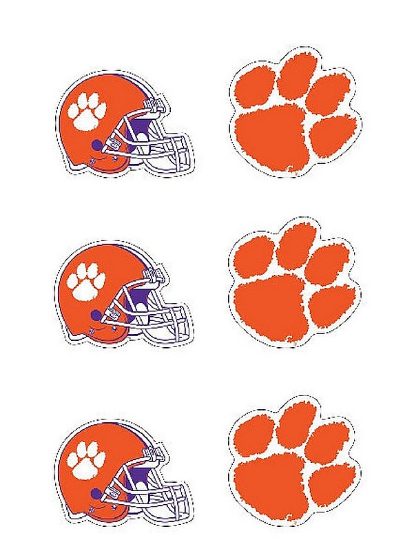 "Clemson Tigers 3"" Vinyl Decal 6-Pack"