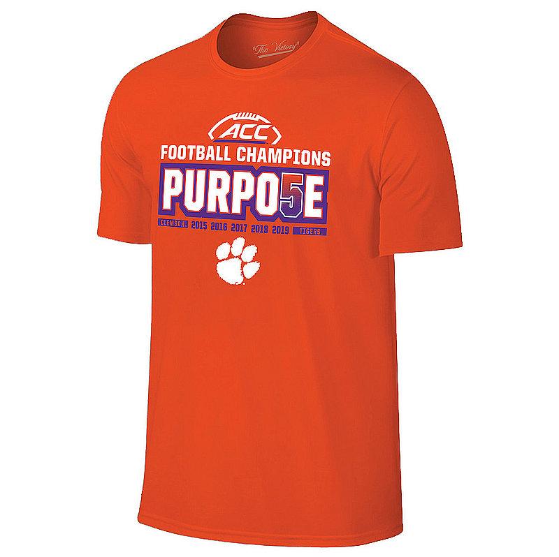 Clemson Tigers ACC Champs Tshirt 2019 Locker Room VCL9617A