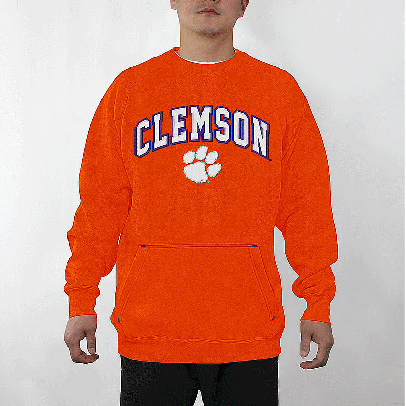 Clemson Tigers Crewneck Sweatshirt Captain Orange CLMA3354